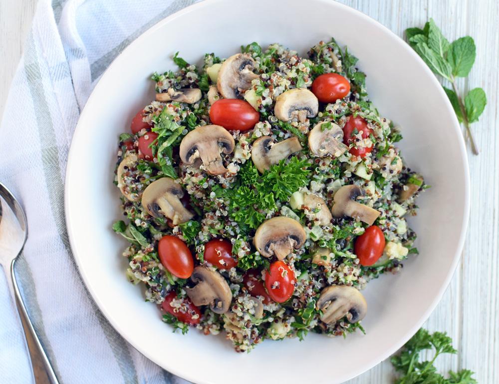 Easy Mushroom Quinoa Tabouli Salad Oil Free Emily Happy Healthy,Pork Loin Country Style Ribs Boneless